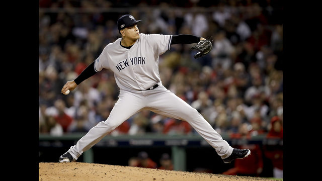 separation shoes fc6a8 77b37 Dellin Betances tore Achilles in return to Yankees | KIRO-TV