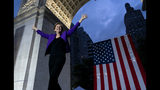 Democratic presidential candidate U.S. Sen. Elizabeth Warren takes the stage before addressing supporters at a rally, Monday, Sept. 16, 2019, in New York. (AP Photo/Craig Ruttle)