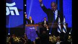 El primer ministro de Israel, Benjamin Netanyahu, se dirige a sus seguidores en la sede de su partido, Likud, tras las elecciones presidenciales, en Tel Aviv, Israel, el 18 de septiembre de 2019. (AP Foto/Ariel Schalit)