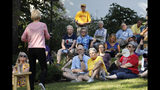 Audience members listen to Democratic presidential candidate Sen. Elizabeth Warren speak during a house party, Friday, Sept. 20, 2019, in Mount Vernon, Iowa. (AP Photo/Charlie Neibergall)