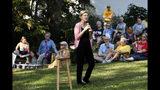 Democratic presidential candidate Sen. Elizabeth Warren speaks during a house party, Friday, Sept. 20, 2019, in Mount Vernon, Iowa. (AP Photo/Charlie Neibergall)