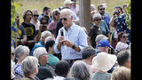 Democratic presidential candidate former Vice President Joe Biden speaks during a town hall meeting at the Indian Creek Nature Preserve, Friday, Sept. 20, 2019, in Cedar Rapids, Iowa. (AP Photo/Charlie Neibergall)