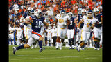 Auburn quarterback Bo Nix (10) carries the ball during the first half of an NCAA college football game against Kent State, Saturday, Sept. 14, 2019, in Auburn, Ala. (AP Photo/Butch Dill)