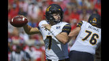 California quarterback Chase Garbers (7) releases a pass during the first half of an NCAA college football game against Mississippi in Oxford, Miss., Saturday, Sept. 21, 2019. (AP Photo/Thomas Graning)