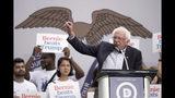Democratic presidential candidate Sen. Bernie Sanders, I-Vt., speaks at the Polk County Democrats Steak Fry, in Des Moines, Iowa, Saturday, Sept. 21, 2019. (AP Photo/Nati Harnik)