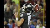 Washington State quarterback Anthony Gordon (18) throws a pass during the first half of an NCAA college football game against UCLA in Pullman, Wash., Saturday, Sept. 21, 2019. (AP Photo/Young Kwak)