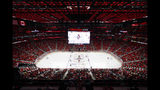 FILE - In this Sept. 23, 2017, file photo, the Detroit Red Wings play an NHL preseason game against the Boston Bruins at Little Caesars Arena in Detroit. The Red Wings are desperately trying to keep fans filing into Little Caesars Arena while the allure of the relatively new facility wears off while the team goes through a painful rebuild. (AP Photo/Paul Sancya, File)