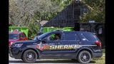 FILE - In this Sept. 19, 2019 file photo, Will County Sheriff's patrol is stationed outside the home of deceased Dr. Ulrich Klopfer in Unincorporated Crete, Ill. Indiana's attorney general will hold a news conference Thursday, Oct. 3, 2019 on his office's investigation into more than 2,200 sets of preserved fetal remains found at the Illinois garage of Dr. Ulrich Klopfer's, a late doctor who once performed abortions in Indiana. (AP Photo/Teresa Crawford, File)