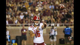 North Carolina State quarterback Bailey Hockman (16) throws against Florida State in the first half of an NCAA college football game in Tallahassee, Fla., Saturday, Sept. 28, 2019. (AP Photo/Mark Wallheiser)