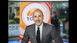 "This Nov. 8, 2017 photo released by NBC shows Matt Lauer on the set of the ""Today"" show in New York. A woman who worked with NBC at the Sochi Olympics claims she was raped by former anchor Lauer at a hotel there, an encounter the former ""Today"" show host says was consensual. The woman made her claim in Ronan Farrow's book, ""Catch and Kill,"" a copy of which was obtained by Variety. Lauer was fired by NBC in 2017 for what it called inappropriate sexual conduct. (Nathan Congleton/NBC via AP)"