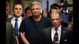 FILE - In this June 27, 2019 file photo, Paul Manafort arrives in a New York court. President Trump's former campaign manager is to be arraigned on state mortgage fraud charges. Ukraine's president appears to be playing to both sides of the U.S. political divide, hedging his bets to ensure U.S. financial and military aid keeps flowing no matter who wins next year's election. (AP Photo/Seth Wenig, File)