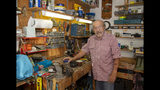 In this Oct. 9, 2019 photo, Joe Schiavone, 81, stands in his workshop in West Melbourne, Fla. Schiavone will get a modest cost-of-living increase from Social Security for 2020,a political year in which many Democrats are calling for a boost in basic benefits and a more generous formula to compute annual inflation adjustments. (AP Photo/Mike Brown)