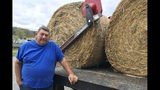 In this Oct. 7, 2019 photo, Georgia cattle farmer Dean Bagwell poses for a photo in Bartow County, Ga. Bagwell says the ongoing drought that's left his county among the driest in the nation has been frustrating for farmers. He said it could mean selling livestock if the situation doesn't improve. Bagwell farms in Bartow County, where farmers have been battling extreme drought. (AP Photo/Jeff Martin)