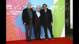 Actor Al Pacino, from right, director Martin Scorsese and actor Robert De Niro pose for photographers at the photocall of the film 'The Irishman' as part of the London Film Festival, in central London, Sunday, Oct. 13, 2019. (Photo by Joel C Ryan/Invision/AP)