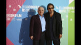 Actor Al Pacino, right, and director Martin Scorsese pose for photographers at the photocall of the film 'The Irishman' as part of the London Film Festival, in central London, Sunday, Oct. 13, 2019. (Photo by Joel C Ryan/Invision/AP)
