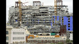 This photo shows the Hard Rock Hotel, which was under construction, after a fatal partial collapse in New Orleans on Saturday, Oct. 12, 2019. (Chris Granger/The Advocate via AP)