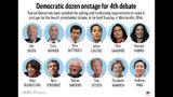 Democratic presidential candidates chosen to participate in fourth debate;