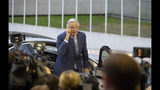 European Union chief Brexit negotiator Michel Barnier arrives for a meeting of EU General Affairs ministers, Article 50, at the European Convention Center in Luxembourg, Tuesday, Oct. 15, 2019. European Union chief Brexit negotiator Michel Barnier is in Luxembourg on Tuesday to brief ministers on the state of play for Brexit. (AP Photo/Virginia Mayo)