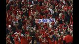 Fans cheer before Game 4 of the baseball National League Championship Series between the St. Louis Cardinals and the Washington Nationals Tuesday, Oct. 15, 2019, in Washington. (AP Photo/Jeff Roberson)