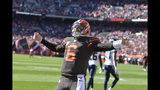 Cleveland Browns quarterback Baker Mayfield celebrates a touchdown during the first half of an NFL football game against the Seattle Seahawks, Sunday, Oct. 13, 2019, in Cleveland. (AP Photo/David Richard)