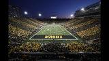 Iowa plays Penn State during the first half of an NCAA college football game at Kinnick Stadium, Saturday, Oct. 12, 2019, in Iowa City, Iowa. Penn State won 17-12. (AP Photo/Matthew Putney)