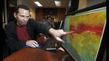 This Sept. 13, 2011 photo shows Anthony Guarino Jr., a seismic analyst at the California Institute of Technology, demonstrating an early earthquake warning system in Pasadena, Calif. The nation's first statewide quake warning system will debut Thursday, coinciding with the 30th anniversary of the Loma Prieta earthquake that ravaged the San Francisco Bay area on Oct. 17, 1989, as well as the annual Great Shakeout safety drill. (AP Photo/Reed Saxon, File)