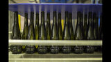 Empty wine bottles sit on a production line in the southern France region of Provence, Friday Oct. 11, 2019. European producers of premium specialty agricultural products like French wine, are facing a U.S. tariff hike on Friday, with dollars 7.5 billion duties on a range of European goods approved by the World Trade Organization for illegal EU subsidies to aviation giant Airbus.(AP Photo/Daniel Cole)