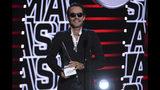 Marc Anthony recibe el International Artist Award of Excellence durante la ceremonia de los Latin American Music Awards, el jueves 17 de octubre del 2019 en el Teatro Dolby en Los Angeles. (Foto por Chris Pizzello/Invision/AP)