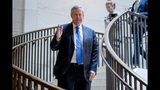Rep. Mark Meadows, R-N.C., arrives for a closed door meeting on Capitol Hill in Washington, Tuesday, Oct. 15, 2019, as Deputy Assistant Secretary of State George Kent testifies before congressional lawmakers as part of the House impeachment inquiry into President Donald Trump. (AP Photo/Andrew Harnik)