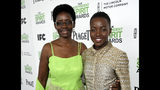 FILE - This March 1, 2014, file photo shows Dorothy Nyong'o, left, with her daughter actress Lupita Nyong'o, at the 2014 Film Independent Spirit Awards in Santa Monica, Calif. (Photo by Jordan Strauss/Invision/AP, File)