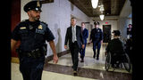 Ambassador William Taylor arrives for a closed door meeting to testify as part of the House impeachment inquiry into President Donald Trump, on Capitol Hill in Washington, Tuesday, Oct. 22, 2019. (AP Photo/Andrew Harnik)