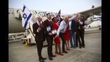 Richard Branson arrives to Ben Gurion airport to inaugurate the start of Virgin Atlantic airline in Israel, Wednesday, Oct. 23, 2019 in Tel Aviv, Israel. (AP Photo/Oded Balilty)