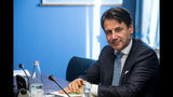 Italian Premier Giuseppe Conte sits before testifying behind closed doors to COPASIR (Italian parliamentary intelligence committee) about a meeting between United States Attorney General William Barr and Italian intelligence, in Rome, Wednesday, Oct. 23, 2019. Media reports have indicated that Conte authorized the contacts -- one in August and one in September -- in violation of protocol. (Angelo Carconi/ANSA via AP)
