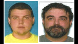 FILE - This document provided by the Clinton County Missouri Sheriff's Department shows brothers Justin Diemel, left, and Nick Diemel, were reported missing July 21, 2019 and are presumed dead. Authorities plan a Wednesday, Oct. 23, 2019 news conference in the case of Garland Nelson, a Missouri man who has been charged with tampering with a vehicle rented by the two missing Wisconsin brothers. (Clinton County Missouri Sheriff's Department via AP)