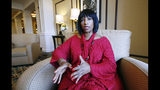 FILE - In this Thursday, Aug. 27, 2015, file photo, Deborah Watts, of Minneapolis, sits in a Jackson, Miss., hotel and speaks about events in Mississippi and Illinois during the week that commemorate the 60th anniversary of the slaying of her cousin Emmett Till, a black 14-year-old from Chicago, who was visiting relatives in the Mississippi Delta. Facing an impeachment inquiry that he and supporters claim is illegal, President Donald Trump tweeted Tuesday, Oct. 22, 2019, that the process is a lynching. Some Republicans agree, but the relatives of actual lynching victims don't. (AP Photo/Rogelio V. Solis, File)