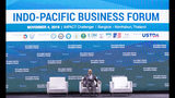 U.S. Commerce Secretary Wilbur Ross sits on chair after delivering a speech at Indo-Pacific Business Forum in Nonthaburi, Thailand, Monday, Nov. 4, 2019. (AP Photo/Sakchai Lalit)