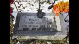 This Friday, Nov. 8 2019 photo from Caledonia, Wis. shows the grave of Jane Doe who has been identified as Peggy Lynn Johnson. Racine County Sheriff Christopher Schmaling says Linda La Roche, of McHenry, Ill., has been charged with first-degree intentional homicide and hiding a corpse in the killing of Johnson. (AP Photo/Carrie Antlfinger)