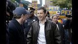Democratic presidential candidate and South Bend Mayor Pete Buttigieg leads supporters on a march to the Democratic Party's Liberty and Justice Celebration event in Des Moines, Iowa, Friday, Nov. 1, 2019. (AP Photo/Nati Harnik)