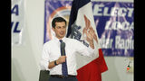 Democratic presidential candidate South Bend, Ind., Mayor Pete Buttigieg speaks during a fund-raising fish fry for U.S. Rep. Abby Finkenauer, D-Iowa, Saturday, Nov. 2, 2019, at Hawkeye Downs Expo Center in Cedar Rapids, Iowa. (AP Photo/Charlie Neibergall)