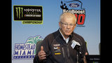 FILE - In this Nov. 16, 2018, file photo, Joe Gibbs, owner of Joe Gibbs Racing, speaks during a news conference for a NASCAR Cup series auto race at the Homestead-Miami Speedway in Homestead, Fla. Gibbs is a Hall of Fame NFL coach with three Super Bowl titles yet still changed course in his early 50s to wade into NASCAR and see if he could not build a second career and a family business. (AP Photo/Terry Renna, File)