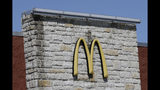 This Thursday, Oct. 17, 2019, photo shows the exterior of a McDonald's restaurant in Mebane, N.C. McDonald's CEO Steve Easterbrook is only the latest chief executive to be ousted over a consensual relationship with an employee. Increasingly, U.S. companies are adopting policies addressing workplace romances, a trend that began well before the #MeToo movement galvanized a national conversation surrounding sexual misconduct. (AP Photo/Gerry Broome)