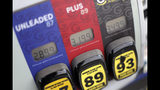FILE - In this Sept. 16, 2019, file photo prices are displayed on a gas pump in Pittsburgh. On Wednesday, Nov. 13, the Labor Department reports on U.S. consumer prices for October. (AP Photo/Gene J. Puskar, File)