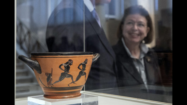 Ancient Cup Given To 1st Marathon Victor Returned To