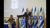 Israeli Prime Minister Benjamin Netanyahu, and IDF Chief of Staff Aviv Kochavi, hold press conference following the killing of a senior Islamic Jihad commander in Gaza by Israel, in Tel Aviv, Israel, Tuesday, Nov. 12, 2019. (AP Photo/Oded Balilty)