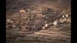 Atardecer en Askaoun, pequeña aldea marroquí que vive de la cosecha de azafrán, realizada mayormente por mujeres. Foto del 5 de noviembre del 2019. (AP Photo/Mosa'ab Elshamy)