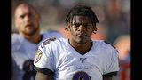 El quarterback de los Ravens de Baltimore Lamar Jackson en el juego del domingo 10 de noviembre del 2019 ante los Bengals de Cincinnati. (AP Photo/Gary Landers)(AP Photo/Gary Landers)