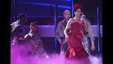 Natalia Jimenez performs at the 20th Latin Grammy Awards on Thursday, Nov. 14, 2019, at the MGM Grand Garden Arena in Las Vegas. (AP Photo/Chris Pizzello)