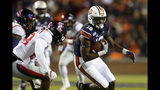 Auburn wide receiver Seth Williams (18) carries the ball as Mississippi defensive back Jay Stanley (28) defends during the second half of an NCAA college football game Saturday, Nov. 2, 2019, in Auburn, Ala. (AP Photo/Butch Dill)