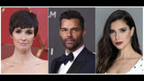 This combination photo shows, from left, actress Paz Vega, actor-singer Ricky Martin and actress Roselyn Sanchez, who will host the 20th Latin Grammy Awards on Thursday in Las Vegas, Nev. (AP Photo)