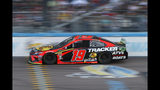 Martin Truex Jr. drives during the NASCAR Cup Series auto race Sunday, Nov. 10, 2019, in Avondale, Ariz. (AP Photo/Ralph Freso)